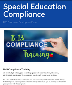 Special Education Compliance Training