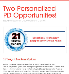 Two Personalized PD Opportunities