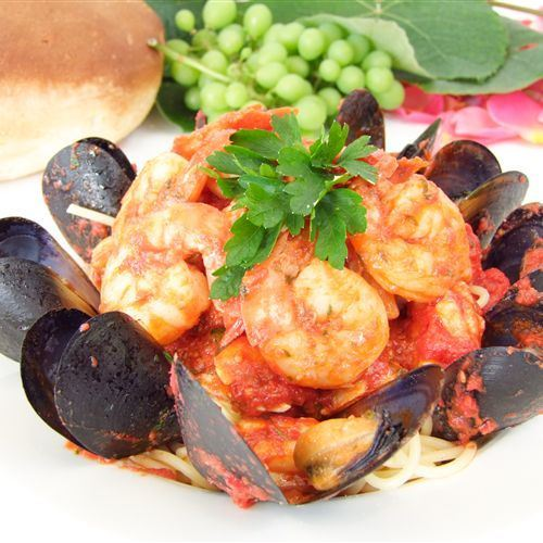 Prawns and mussels