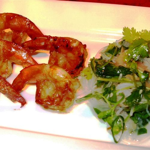Grilled-prawns-with-asian-greens