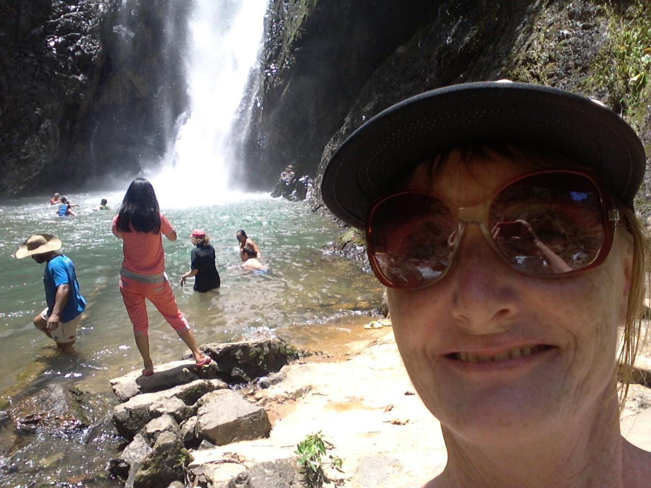 Navua River waterfall