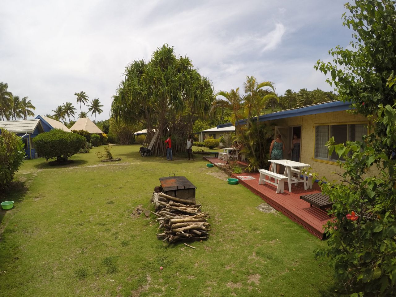 Your own patio in Double/twin self contained cottage bure at Macdonalds Fiji