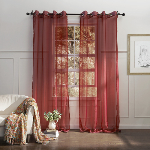 Elegant sheer curtains