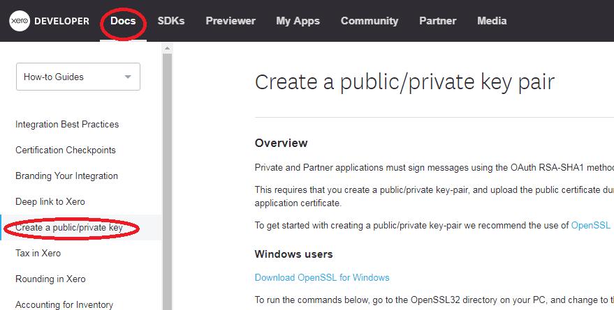 x509 public key certificate xero