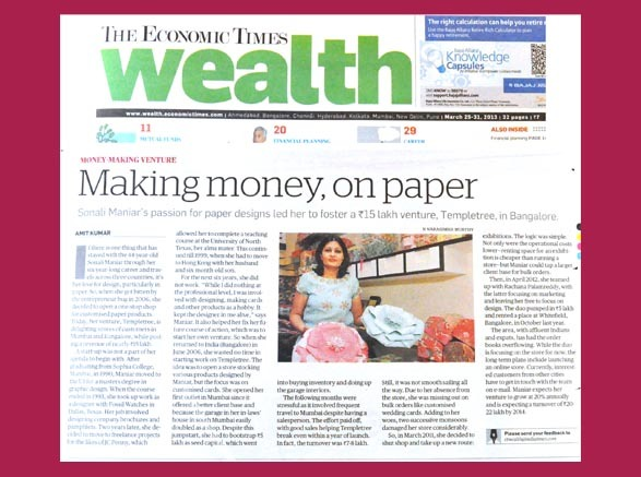 Economic Times Wealth - 25th Mar. 2013