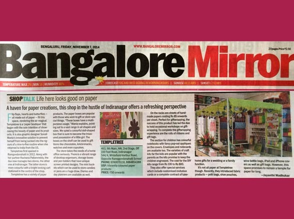Bangalore Mirror - 7th Nov. 2014