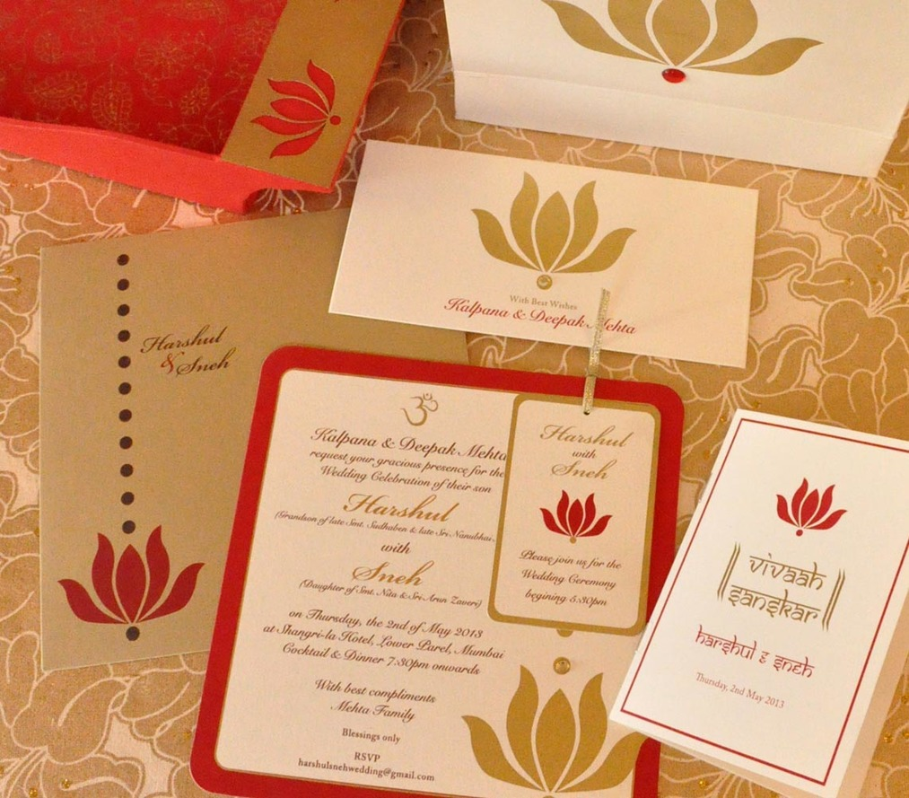 Wedding Invite - Lotus