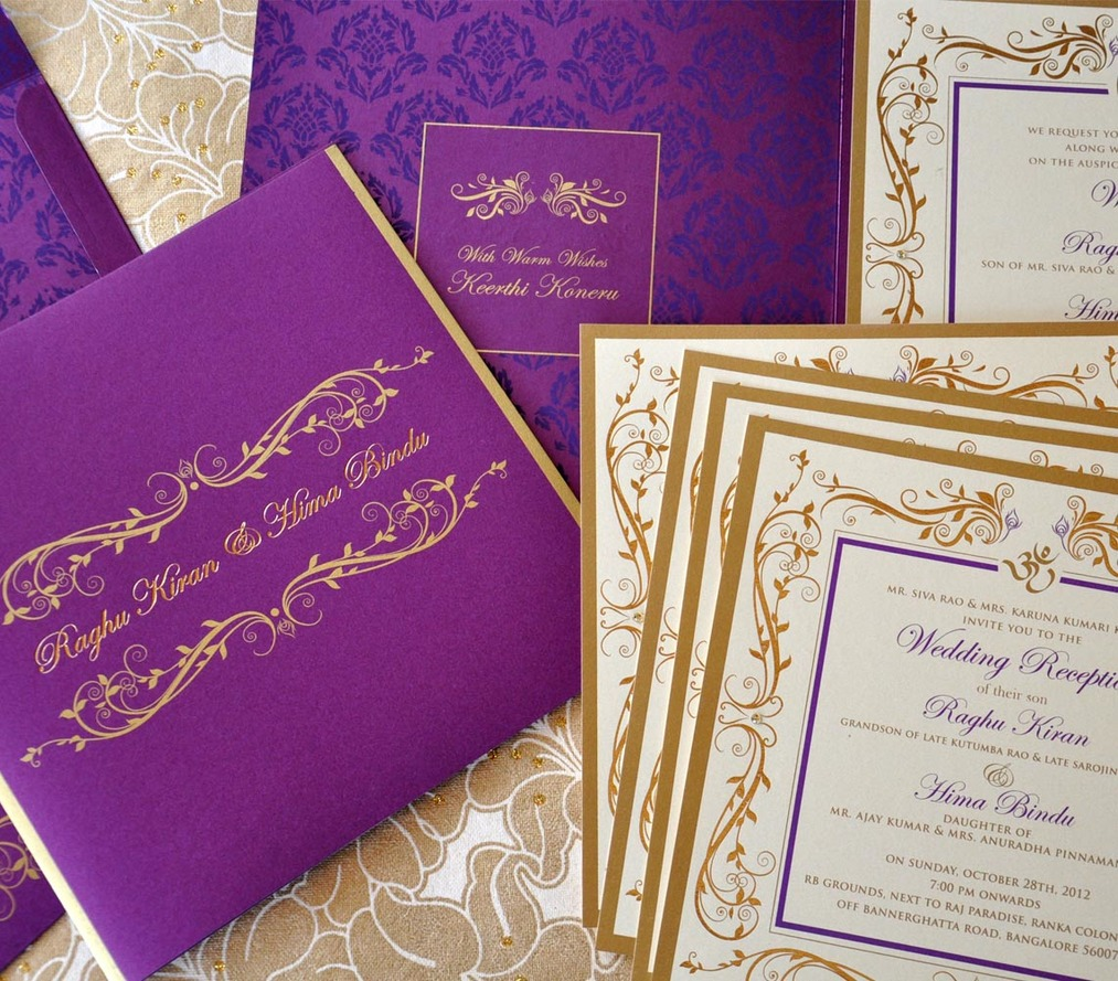 Wedding Invite - Leaf motif