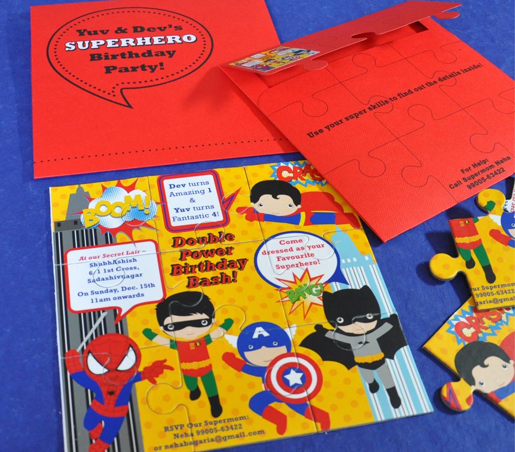 Birthday Invite - Superhero