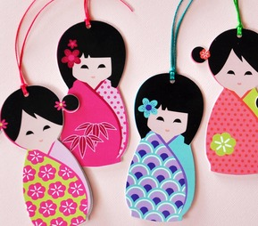 Tags - Japanese Doll tags