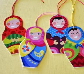Babushka doll tags