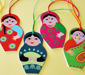 Indian doll tags