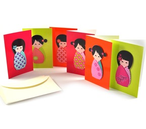 Japanese Doll Notecards