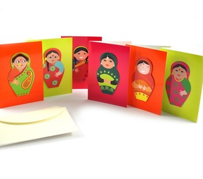 Indian Doll Notecards