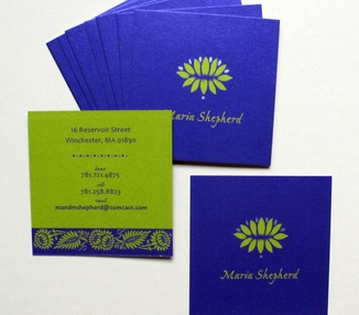Visiting card - Lotus Square