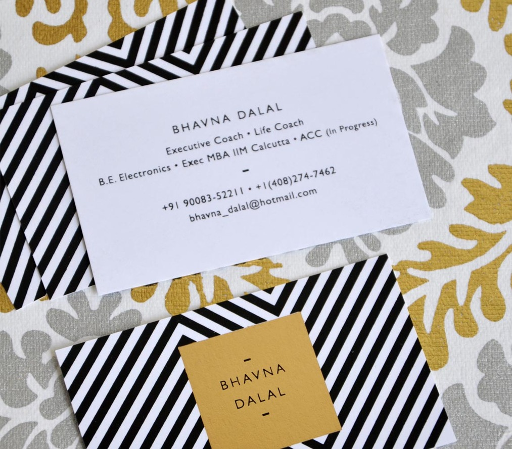 Business card - Chevron Gold