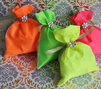 Potli bags - Neon set