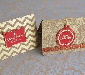 Christmas Gold Kraft Tag