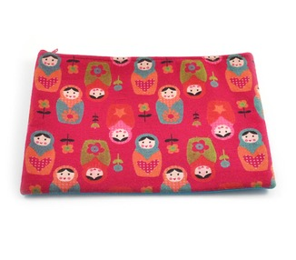 Pouch - Russian Doll print