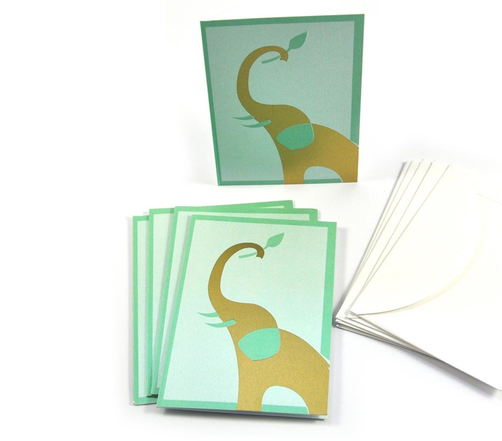 Notecards - Embossed Elephant