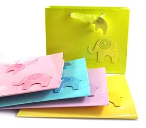 Gift Bags - Glossy Elephants