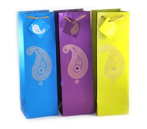 Wine bags - Cool colors