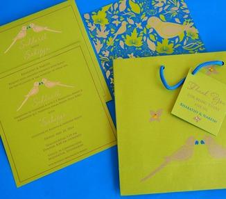 Wedding Invite - Parrot