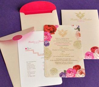 Wedding Invite - Vintage Rose