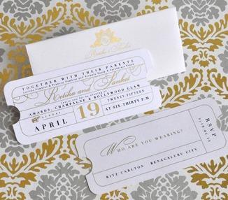 Wedding Invite - Sangeet Ticket