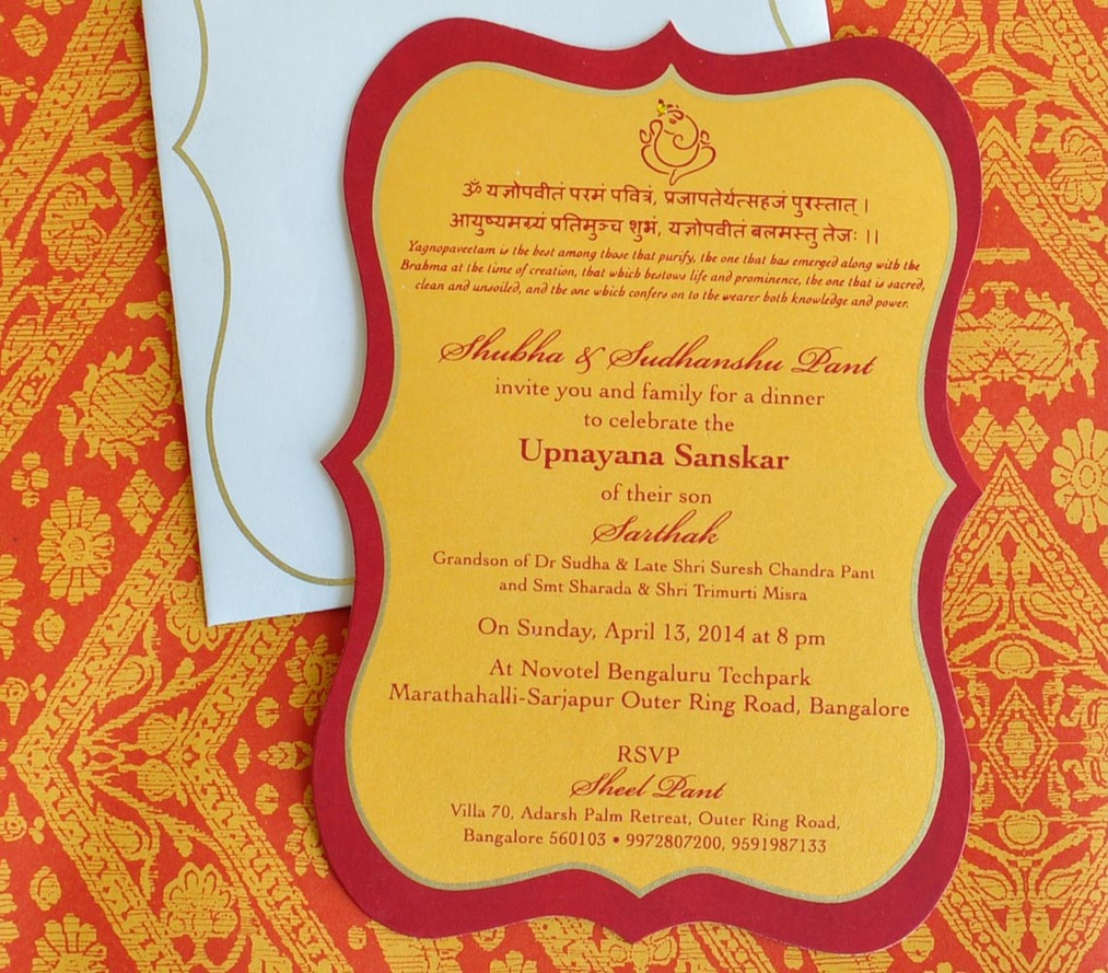Invite - Thread ceremony: Sarthak