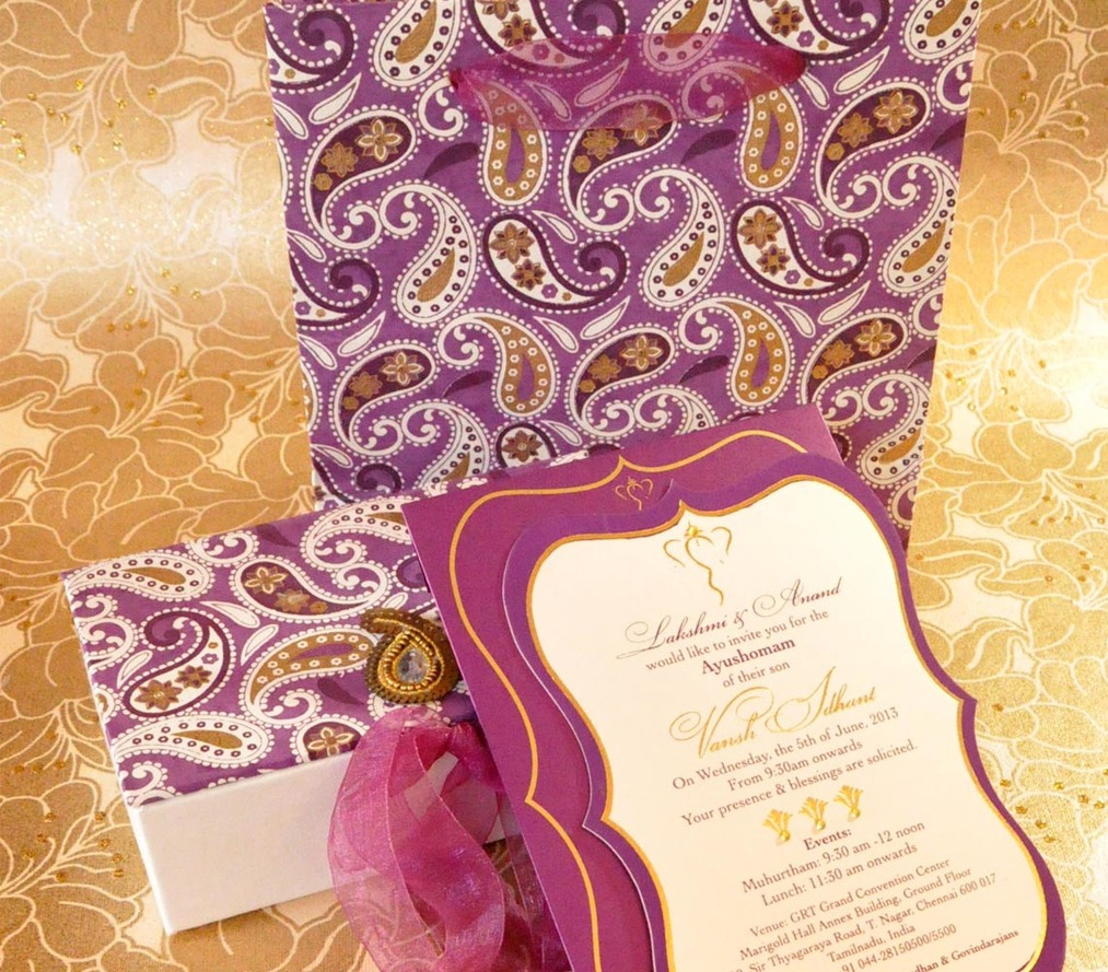 Invite - Thread ceremony: scallop purple