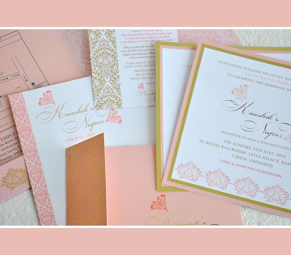 Wedding Invite - Pastel Peach