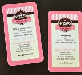 Business card - Bakers Inn