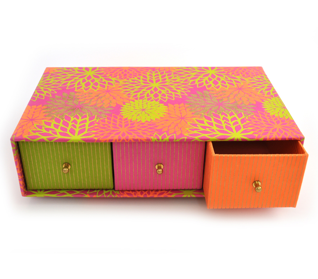 Box - 3 Drawer Floral