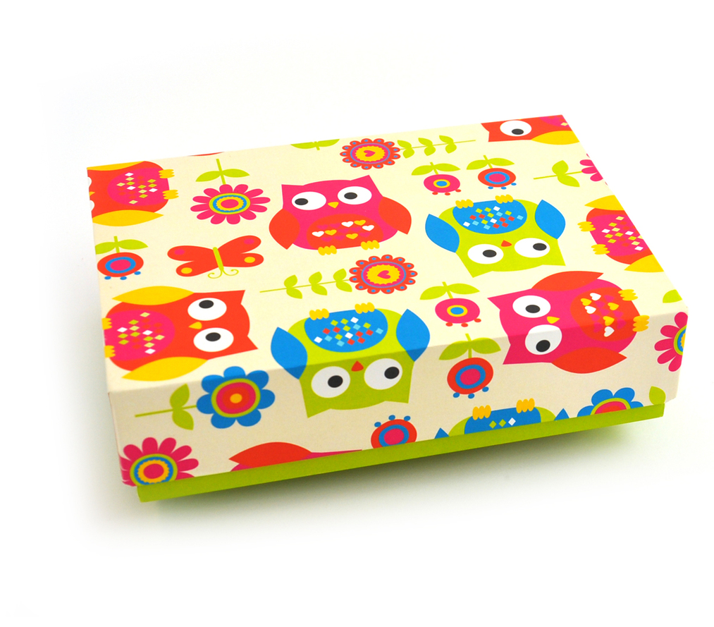 Box - Digital Print - Fun Owls