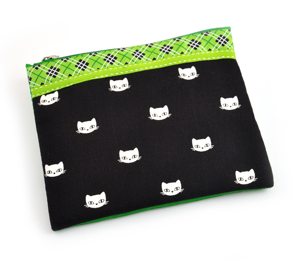 Fabric Pouch - Cat