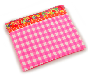 Fabric Pouch - Checks
