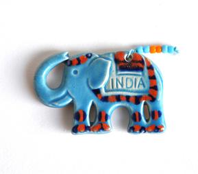 Magnet - Elephant - Blue