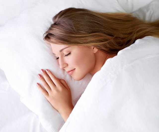 Representation of woman sleeping