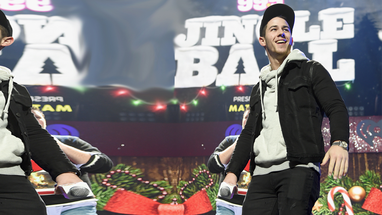 Nick Jonas at HOT 99.5's Jingle Ball 2014 in Washington, D.C.