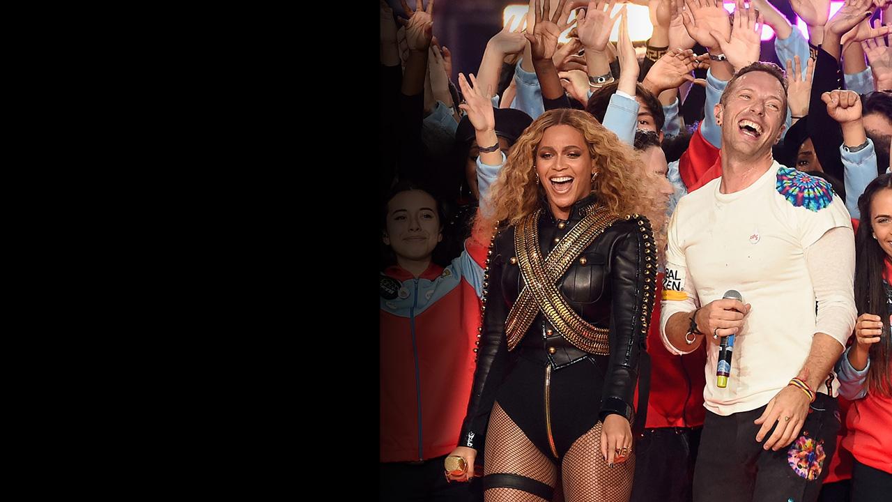 Beyoncé, Coldplay, and Bruno Mars