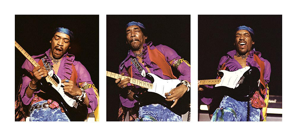 Jimi Hendrix: Extreme feedback? Check. Devastating, one-of-a-kind electric blues riffs? Check. Guitar on fire? Check. Psychedelic Woodstock National Anthem? Check...
