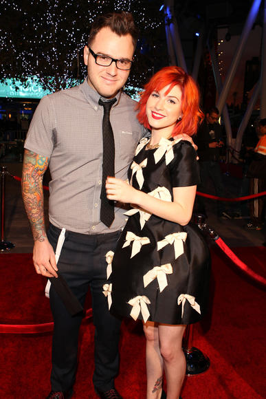 YOU ROCK: Hayley Williams of Paramore and Chad Gilbert of New Found Glory