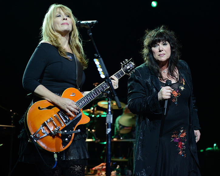Heart - The Wilson sisters have been rocking since the '60s and they show NO signs of stopping.