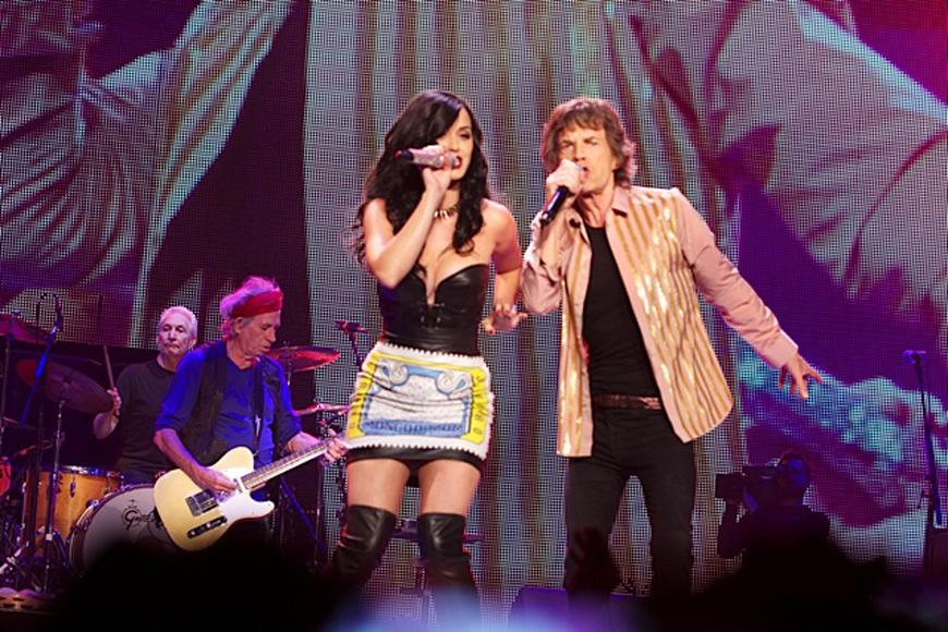 Katy Perry takes the stage with The Stones