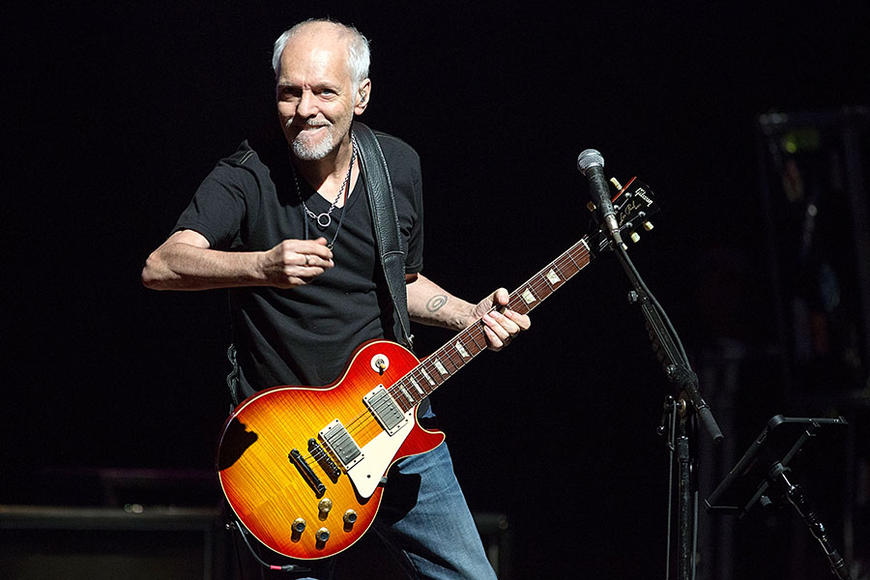 Peter Frampton - Frampton Comes Alive!  No, not the album, we're just excited he's lived to make his next gig.