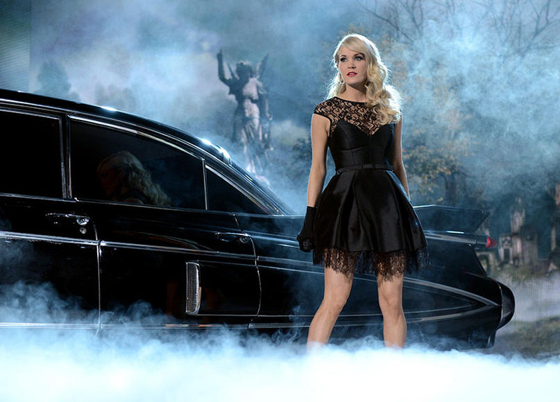 """I dug my key into the side of his pretty little souped up 4 wheel drive, carved my name into his leather seats. I took a Louisville slugger to both headlights, slashed a hole in all 4 tires. Maybe next time he'll think before he cheats."" - Carrie Underwood, Before He Cheats"
