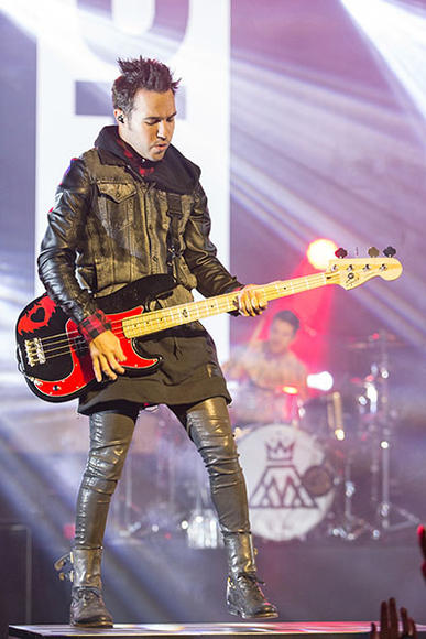 Pete Wentz of Fall Out Boy rocking a jacket/hoodie/dress-like thing