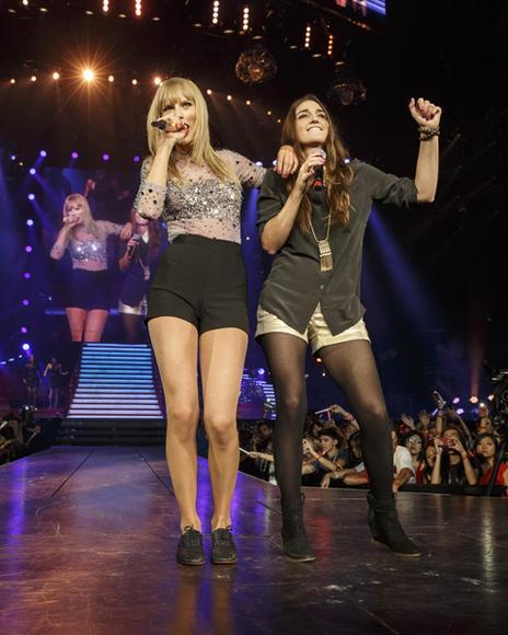 Taylor Swift and Sara Bareilles
