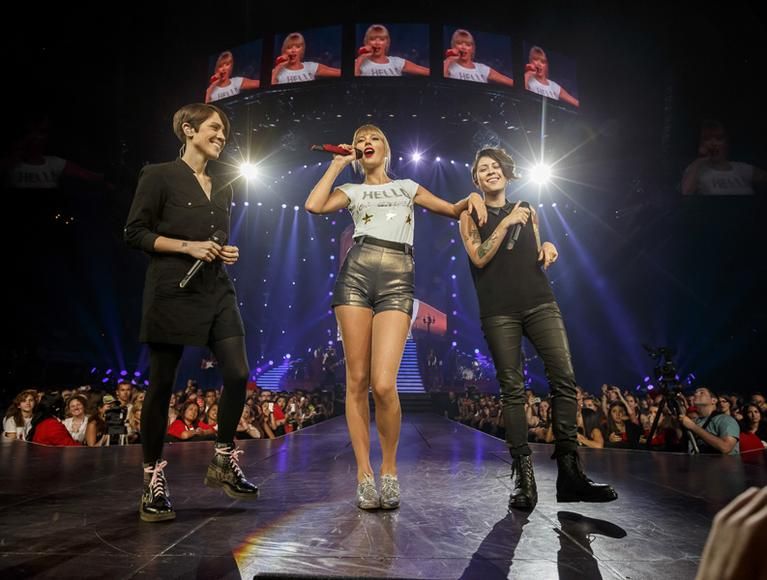 Taylor Swift and Tegan and Sara